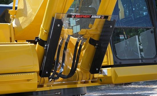 excavator glass shield